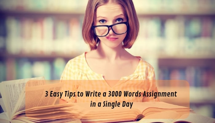 How to Write an Assignment of 3000 Words in Just One Day.