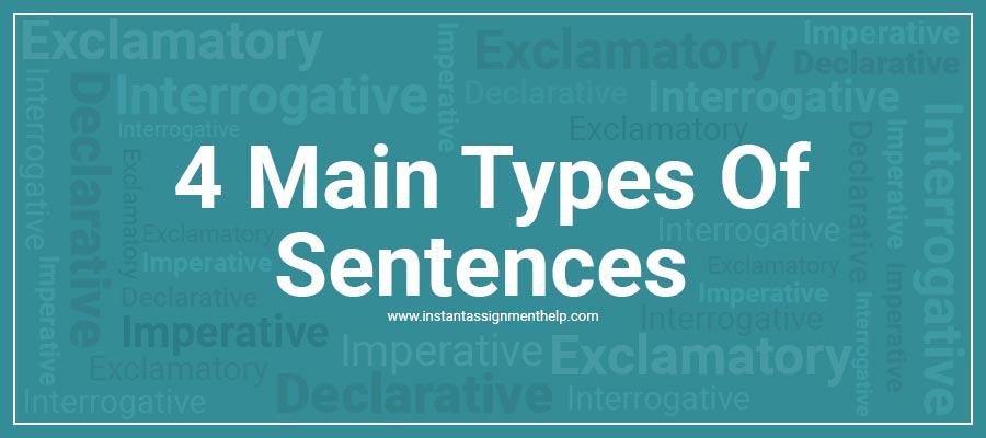 4 Main Types of Sentences